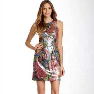 Jessica Simpson NWT colorful floral sequin dress